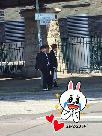 [Picture/Fansnap] BTS (Jungkook,J-Hope and V) at Berlin ...