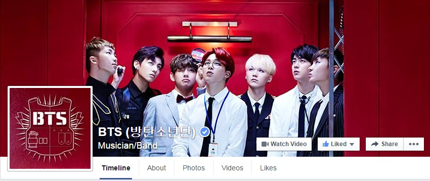 info bts changed their facebook cover and profile