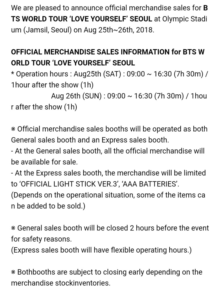 Info] BTS WORLD TOUR 'LOVE YOURSELF' MD [180813]